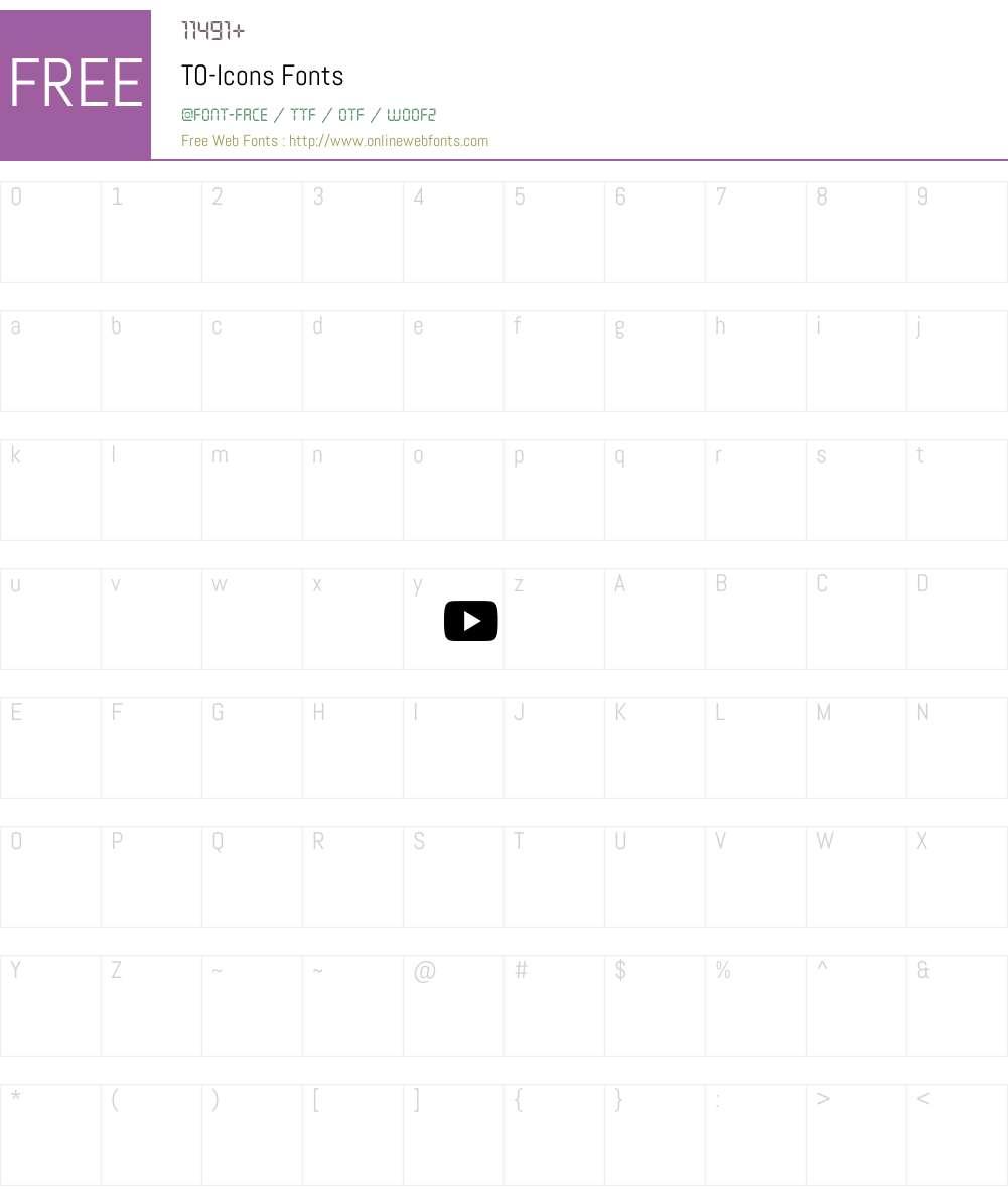 TO-Icons Font Screenshots