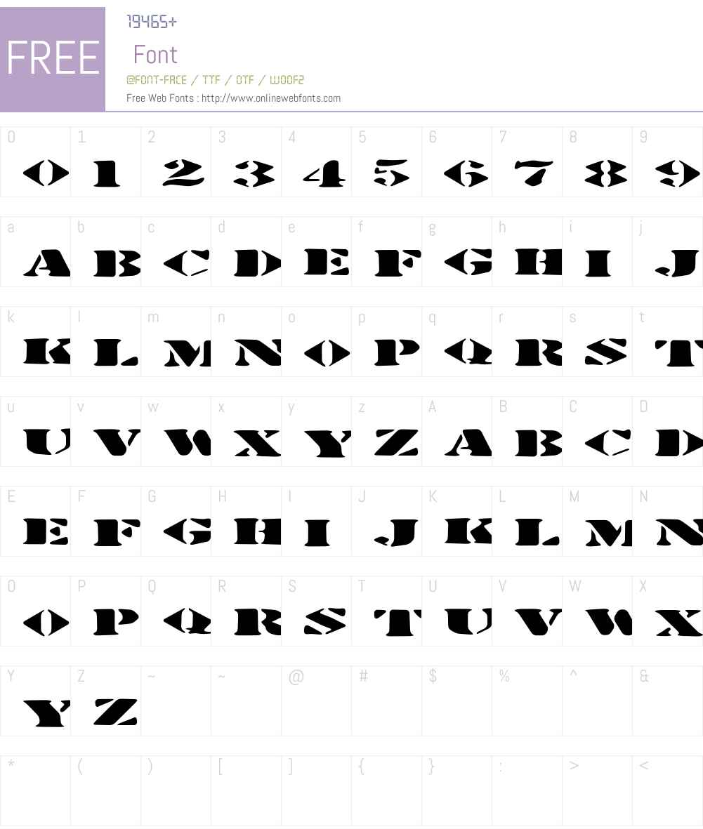Stenciltration Font Screenshots