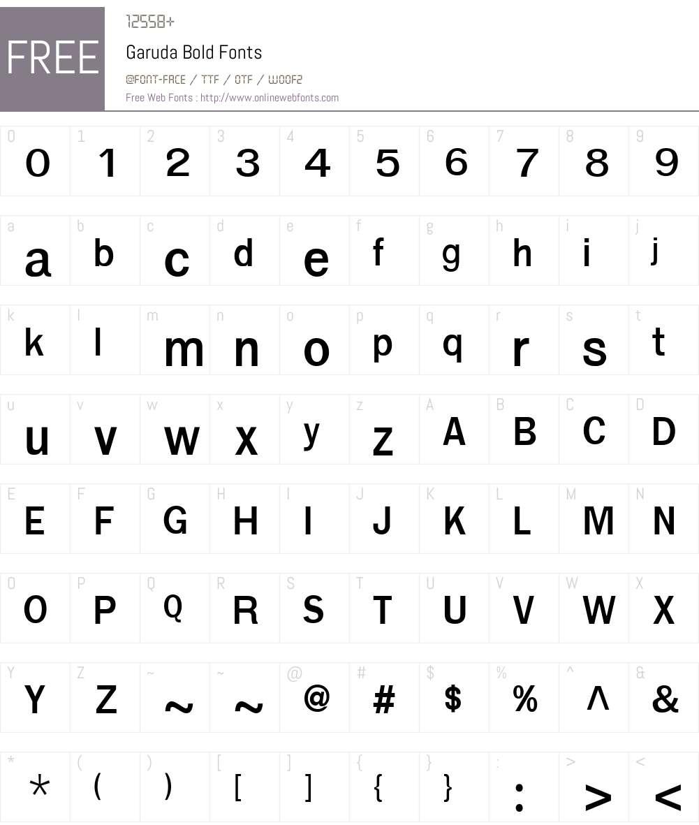 Garuda Font Screenshots