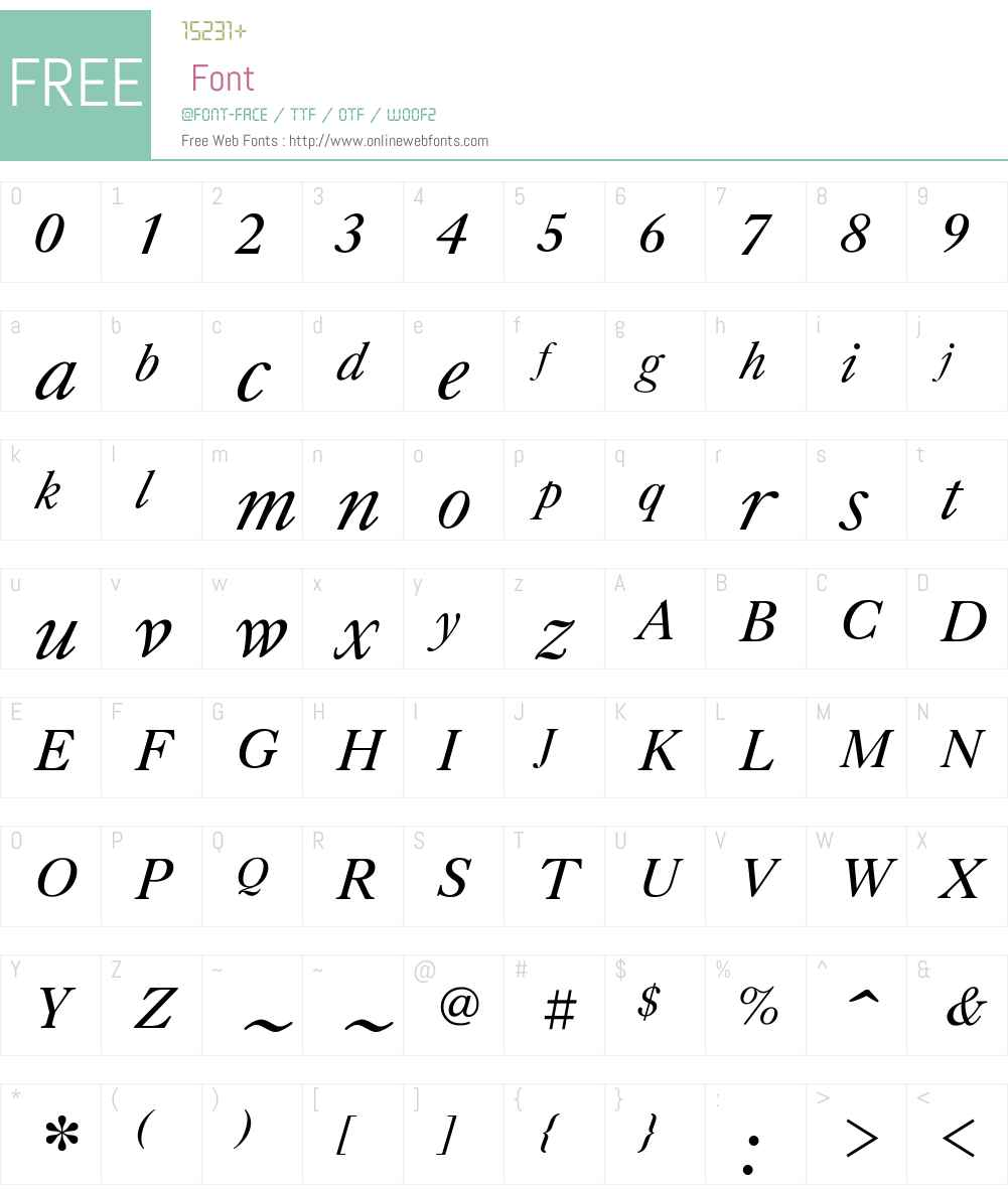 ZagolovochnayaW01-BookItal Font Screenshots