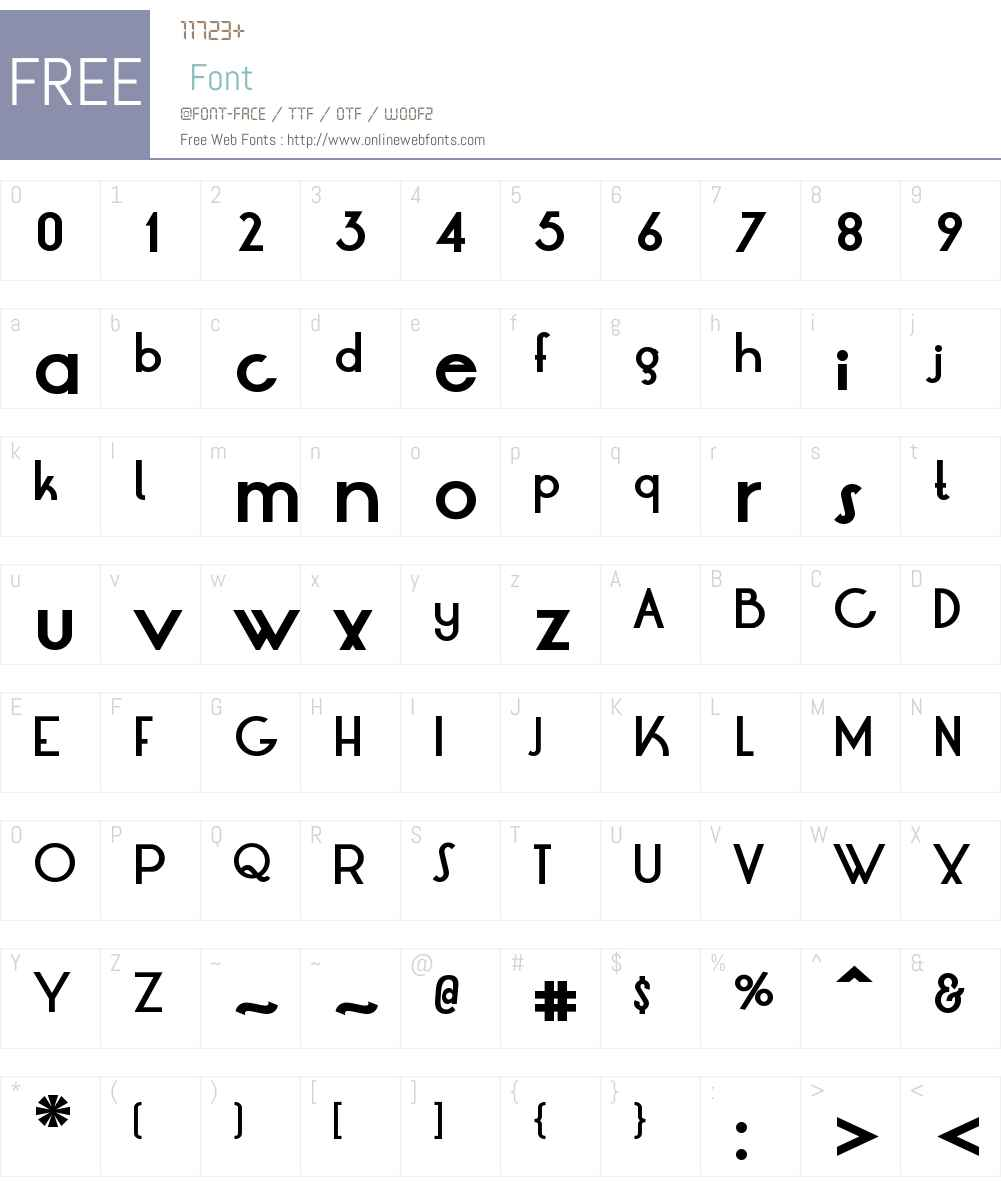 LT Oksana Font Screenshots