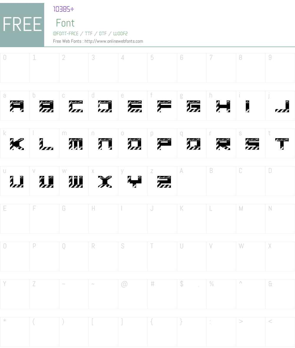 Basica industrial Font Screenshots