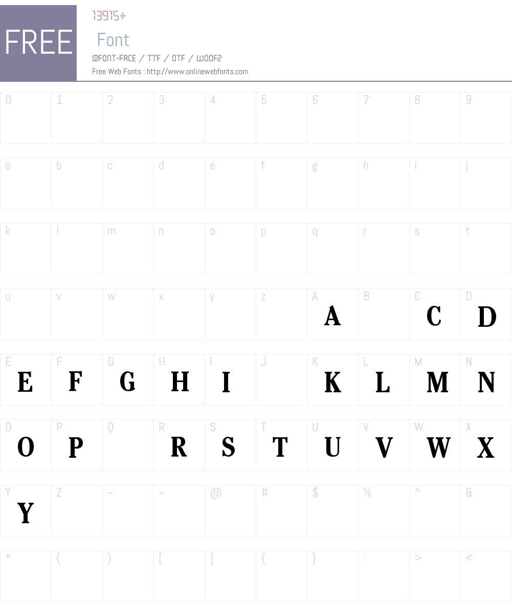 VPNGUA+CheltenhamCdITC-Bold Font Screenshots
