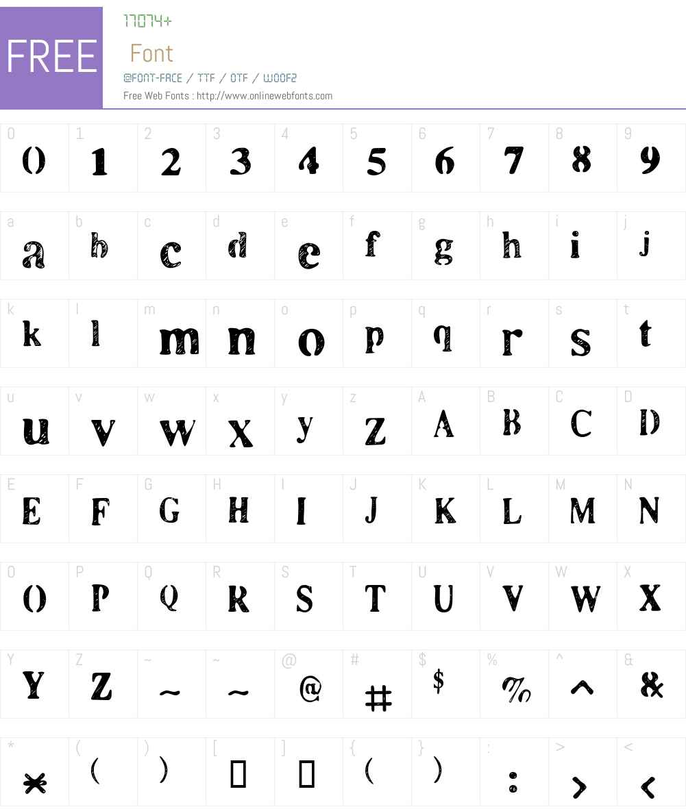 LLCooper Font Screenshots