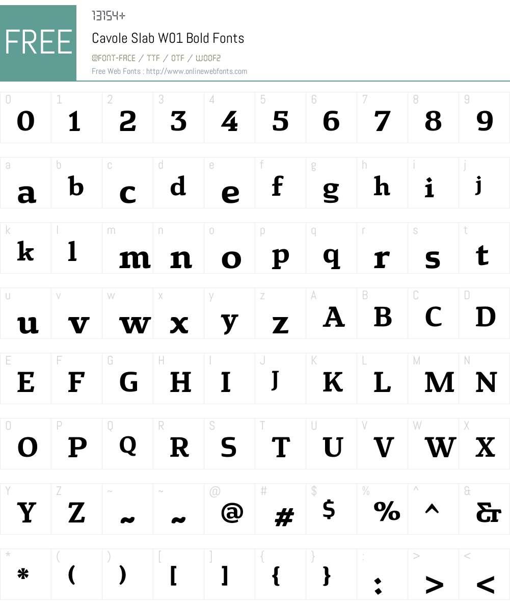 CavoleSlabW01-Bold Font Screenshots