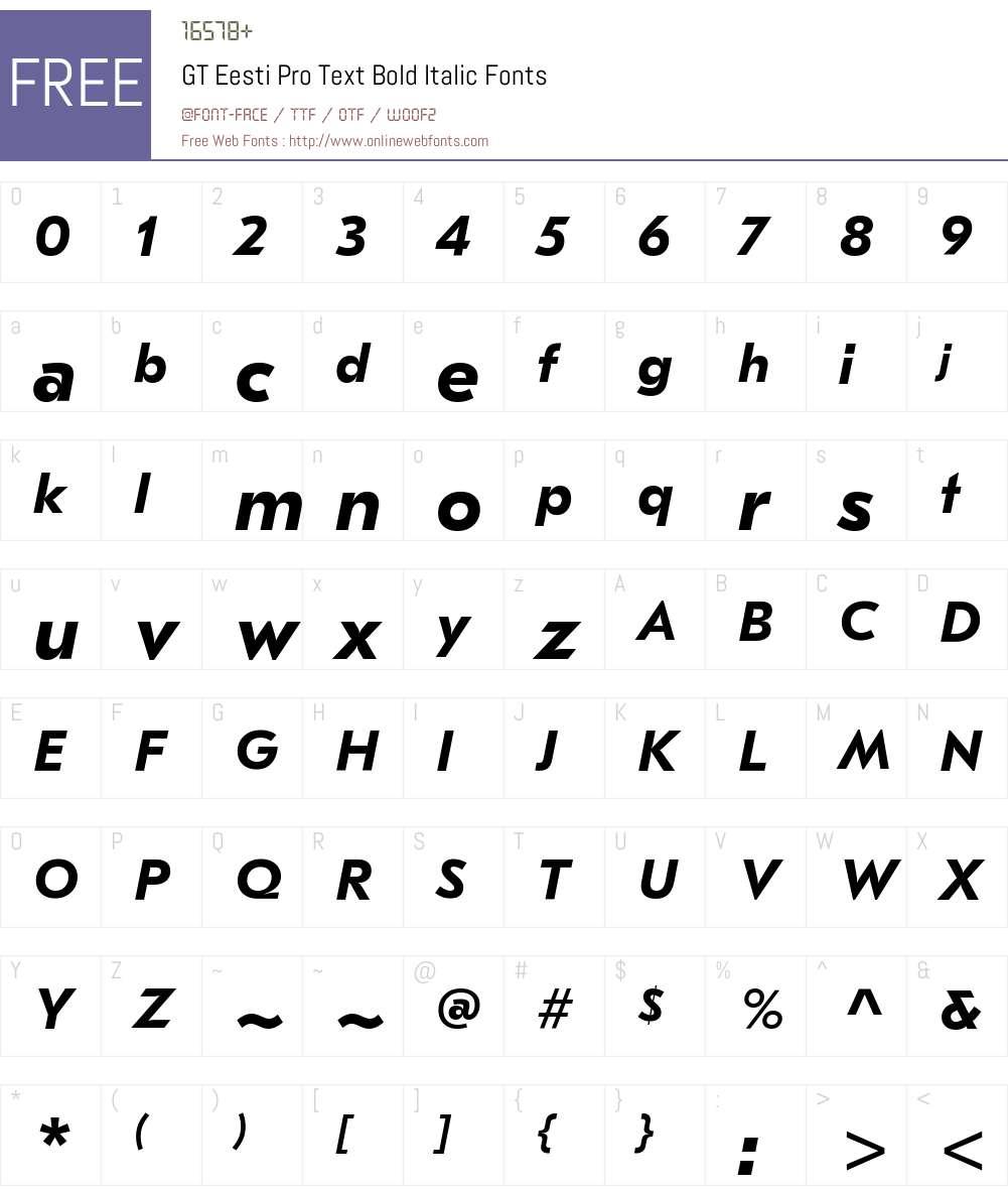 GT Eesti Pro Text Bold Font Screenshots