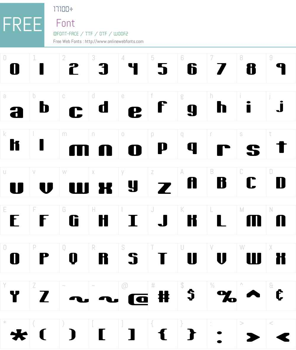 Typesource Extol S BRK Font Screenshots