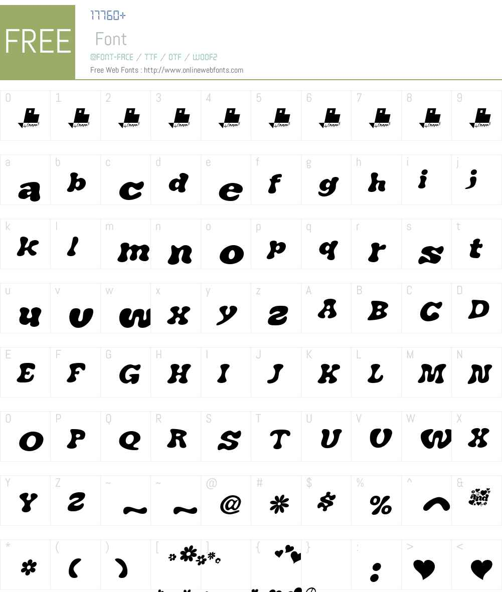 J. Airplane swash Italic Font Screenshots
