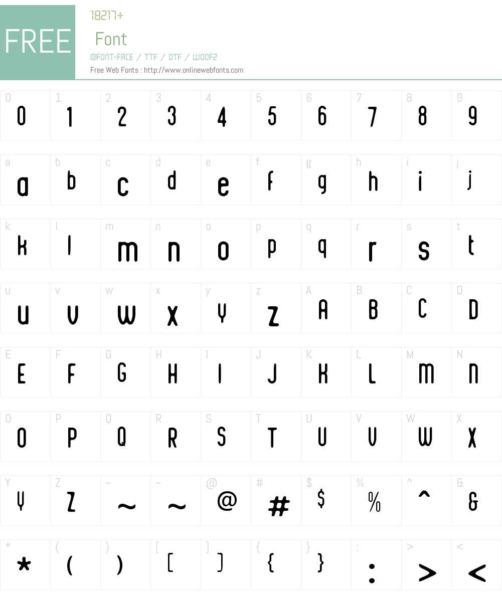 IntegraChicW00-Regular Font Screenshots