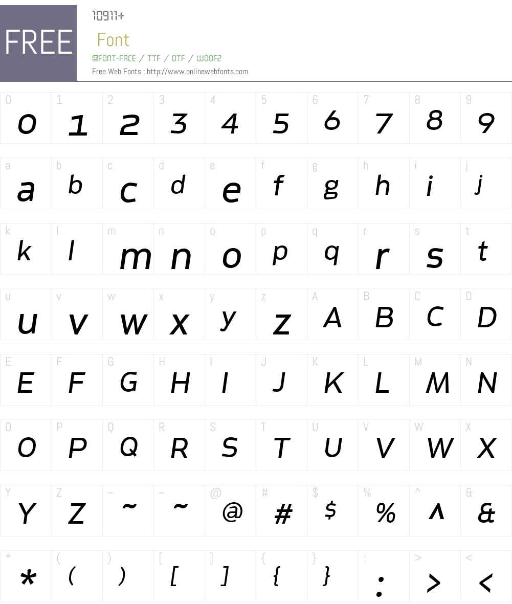 Metroflex Wide Font Screenshots