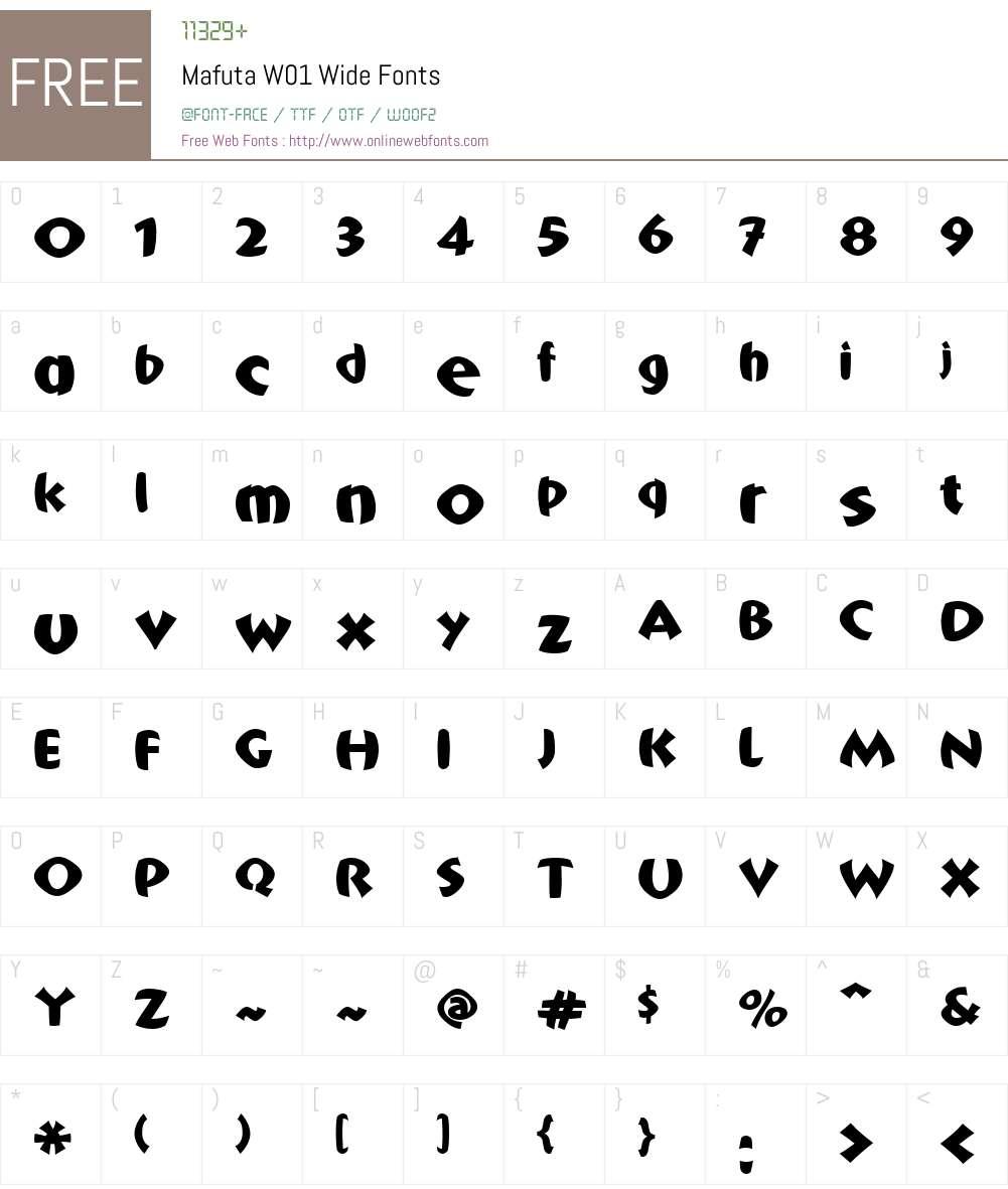 MafutaW01-Wide Font Screenshots