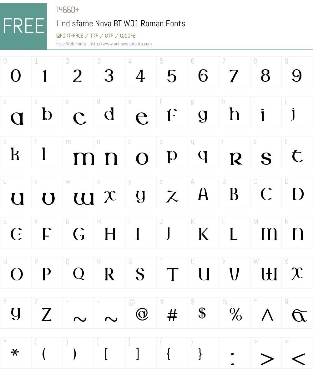 LindisfarneNovaBTW01-Roman Font Screenshots