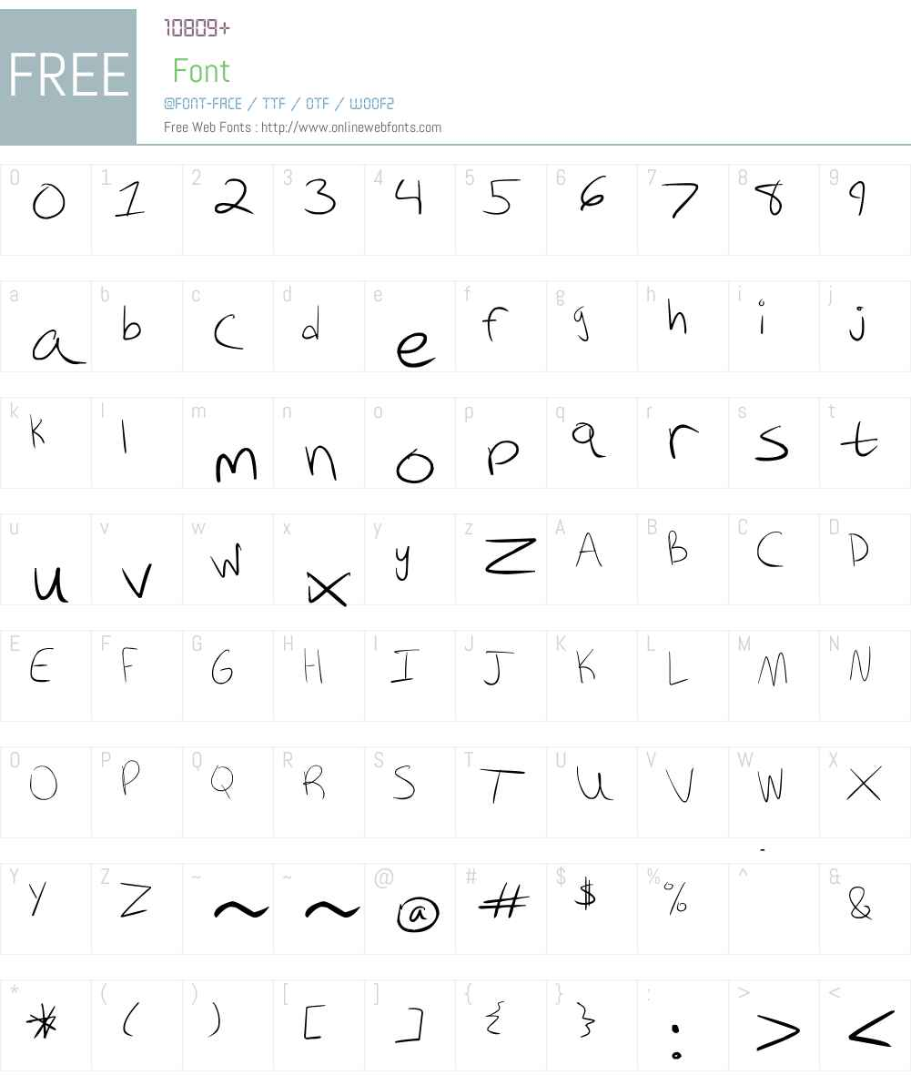 Kiki Font Screenshots