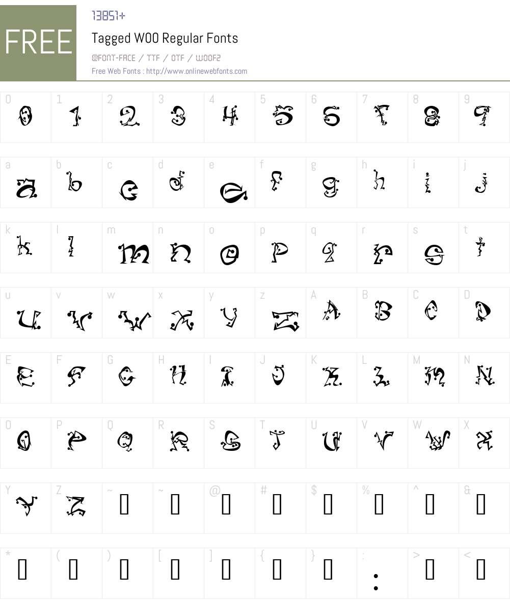 Tagged Font Screenshots