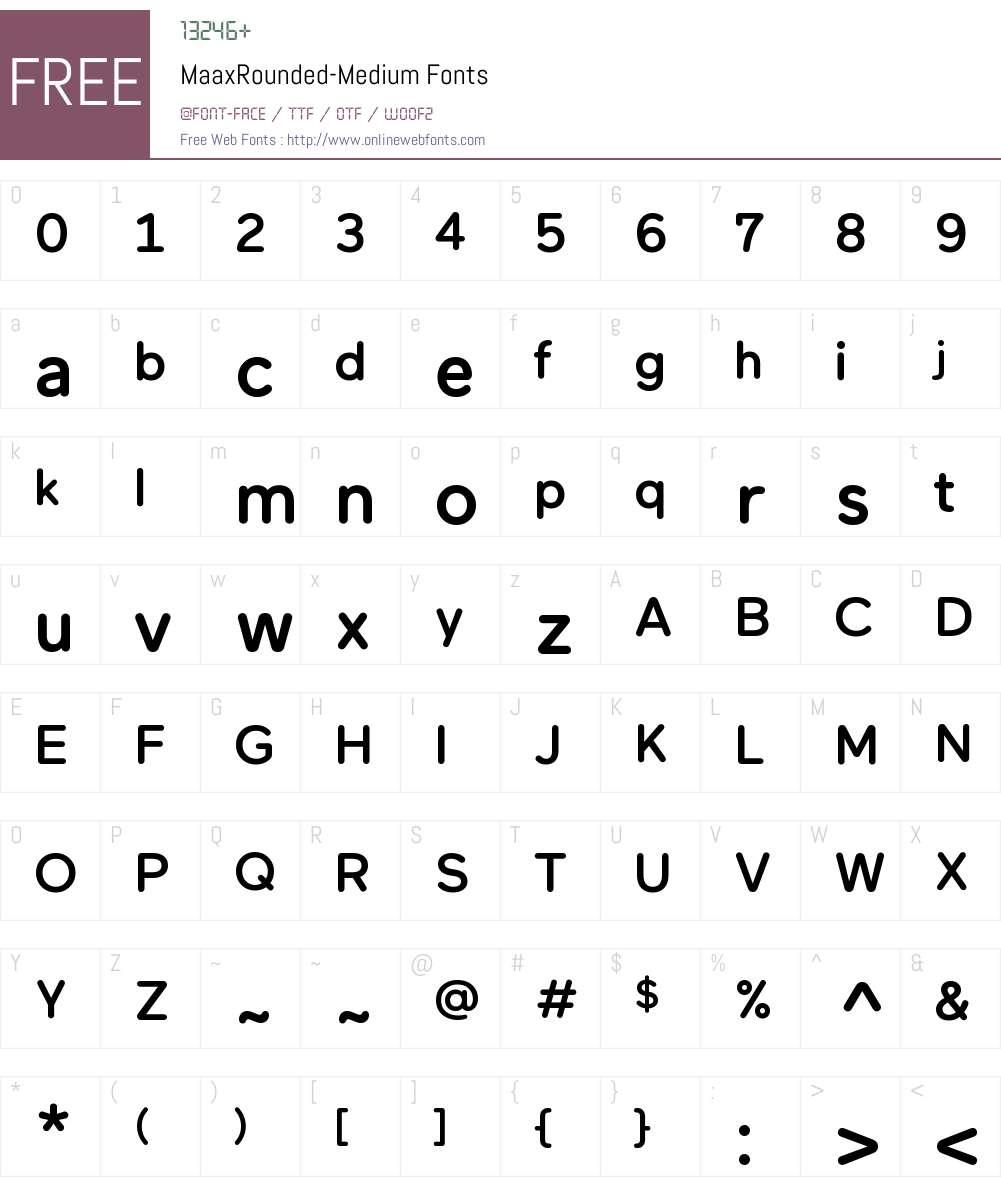 Maax Rounded Font Screenshots