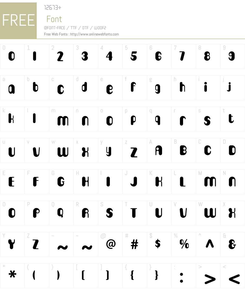 CigarW00-Regular Font Screenshots