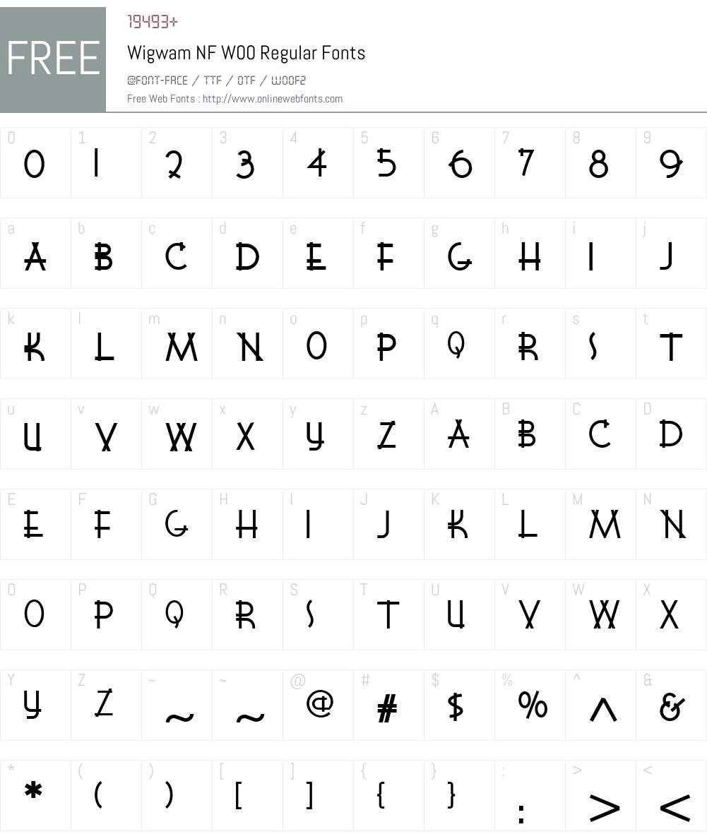 WigwamNFW00-Regular Font Screenshots