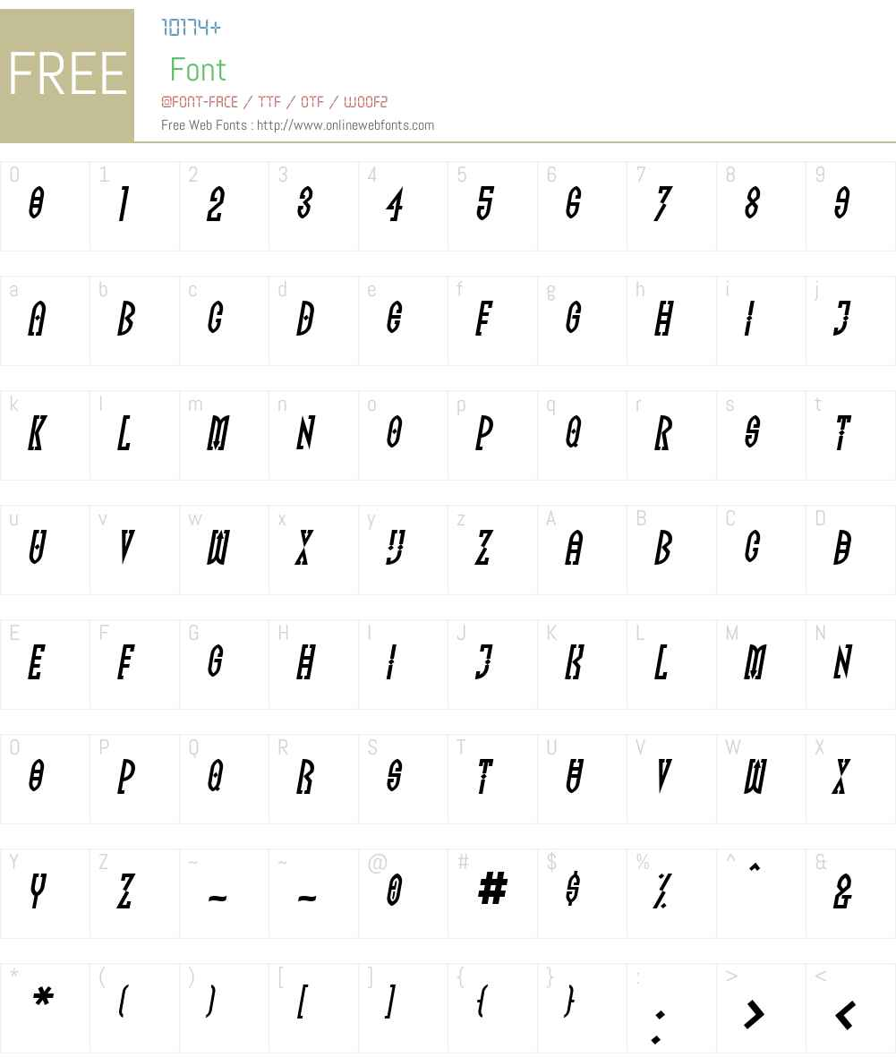 FF Totem Font Screenshots