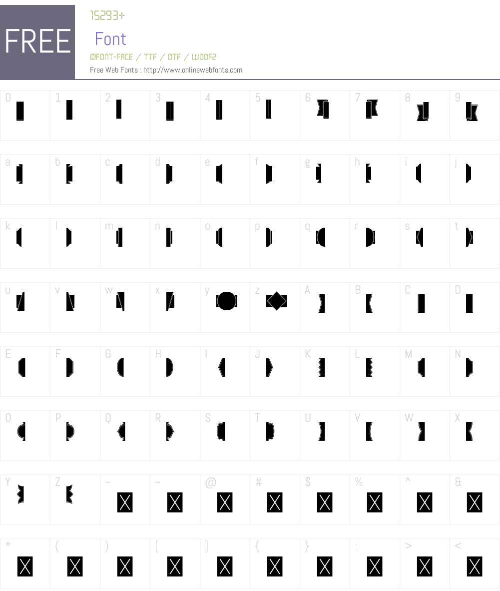 AlianzaW95-LabelsNegative Font Screenshots