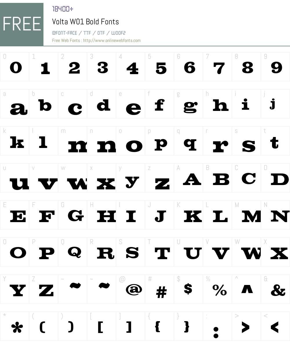 VoltaW01-Bold Font Screenshots