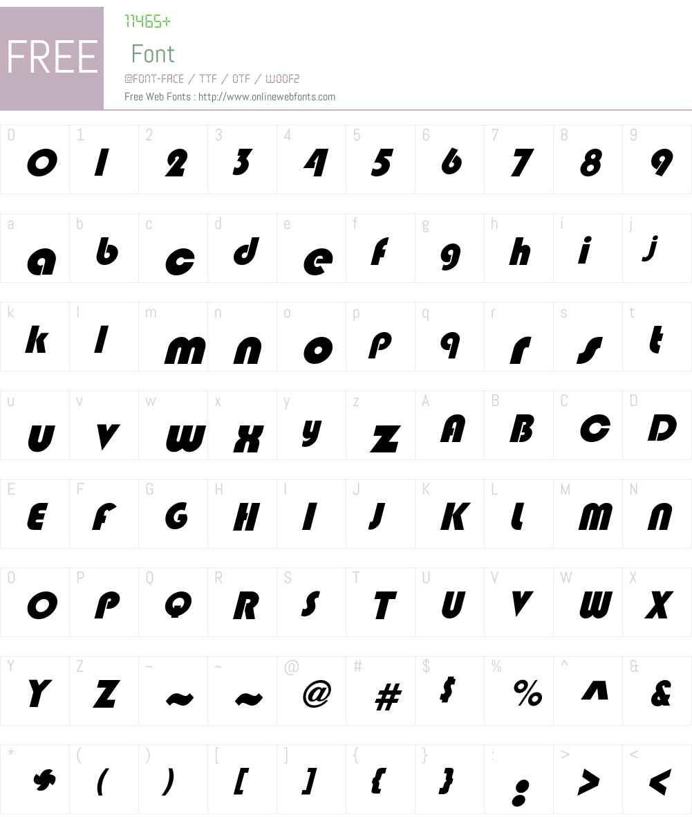 BixleeObl-Heavy Font Screenshots