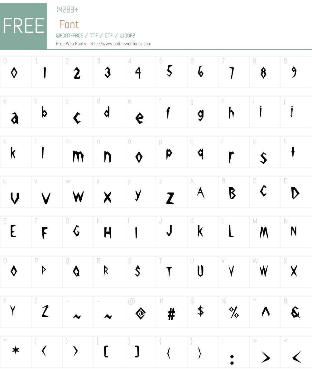 Pick Ax Font Screenshots