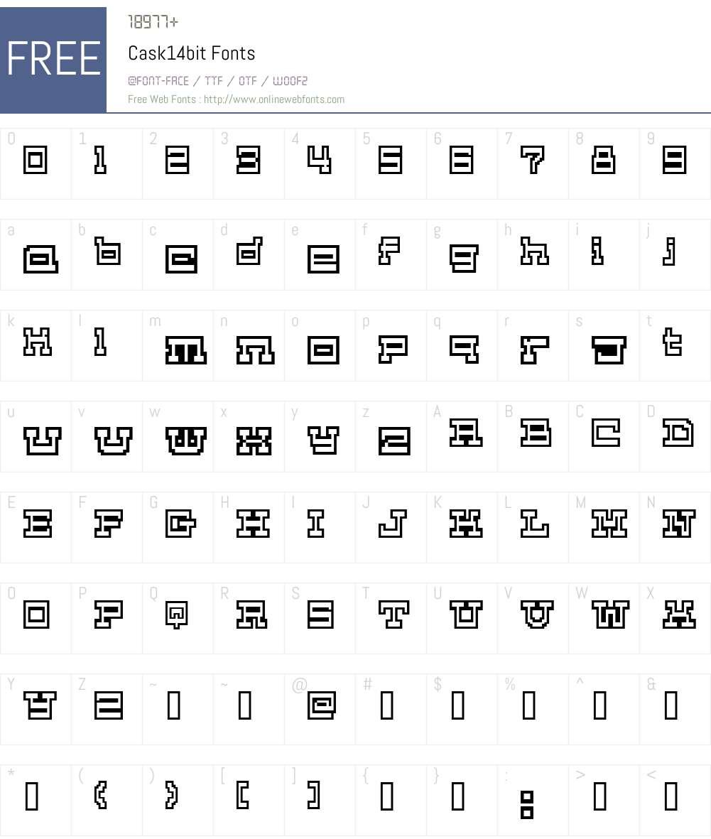 Cask14bit Font Screenshots