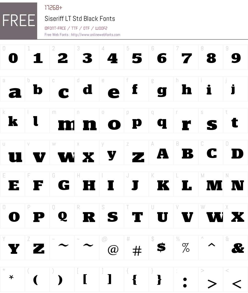 Siseriff LT Std Black Font Screenshots