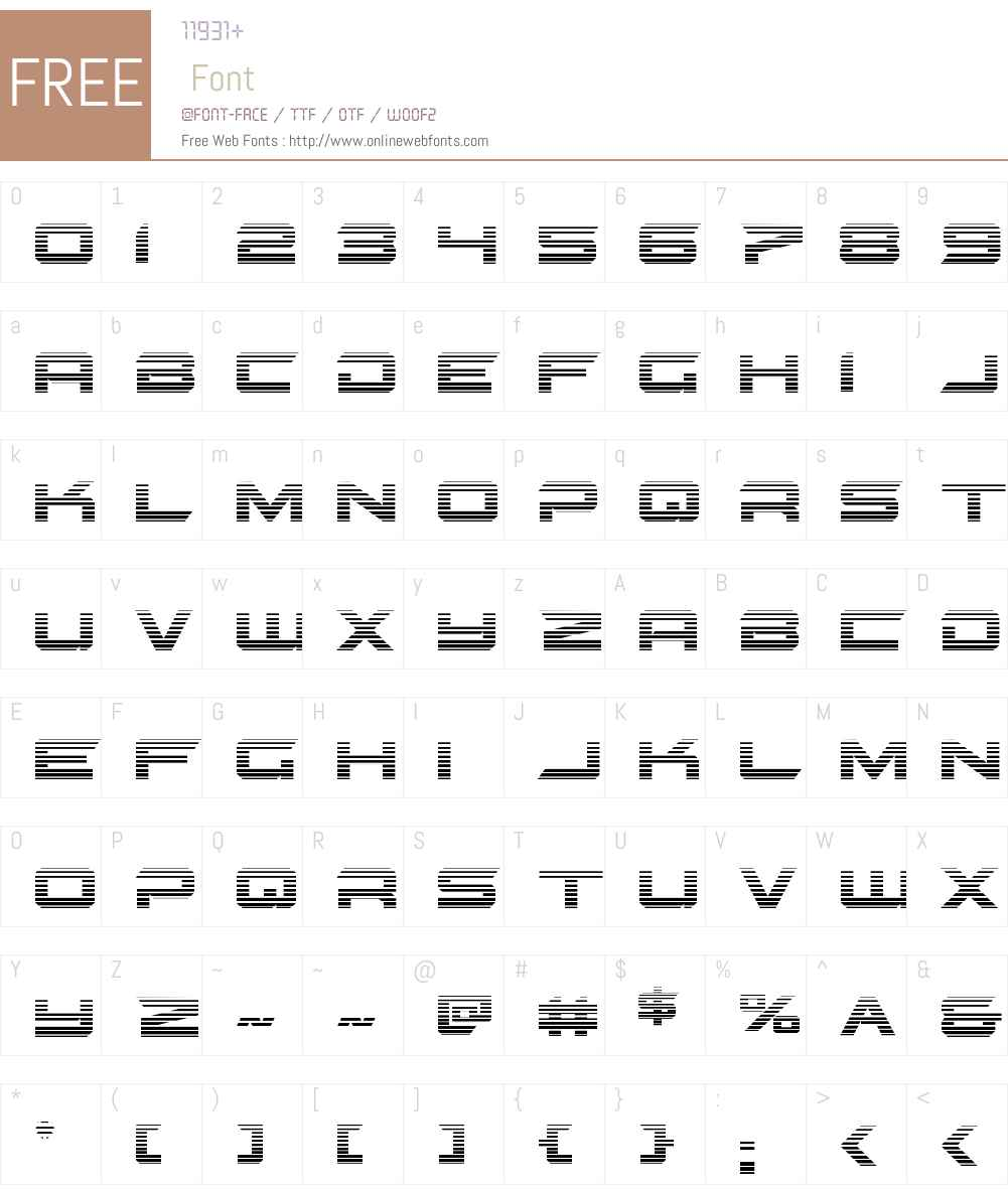 Gypsy Killer Gradient Font Screenshots
