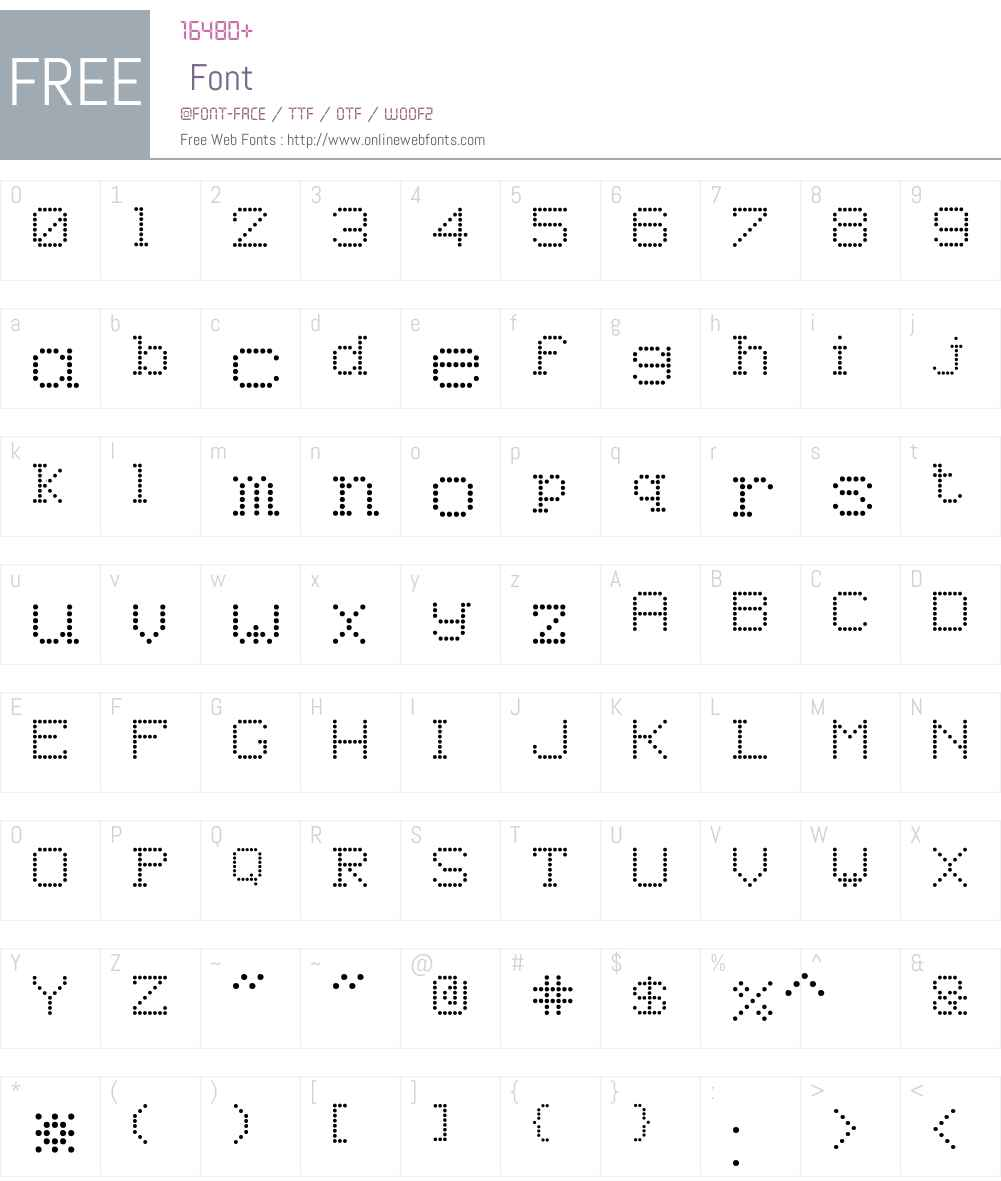 8PinMatrix Font Screenshots