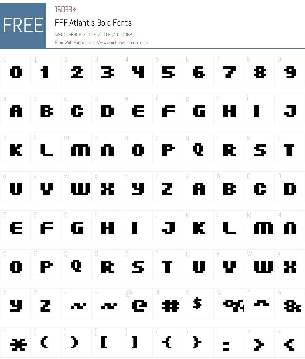 FFF Atlantis Bold Font Screenshots