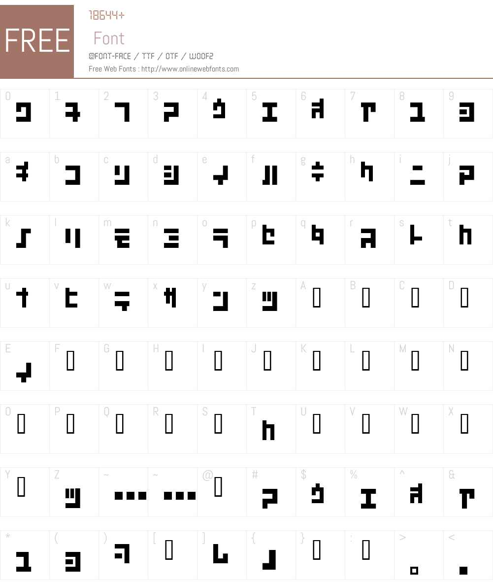 KoukakuJ Font Screenshots