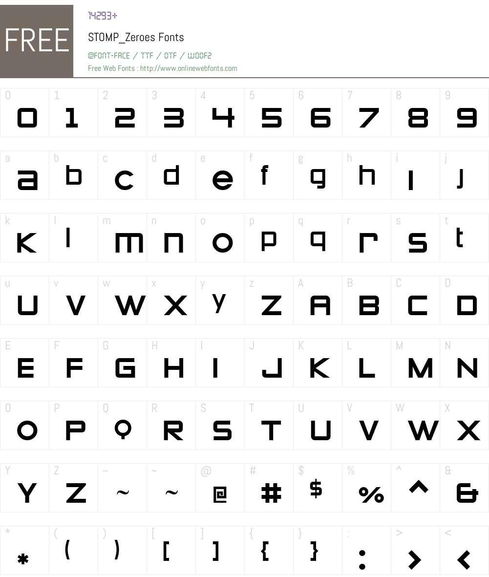 STOMP_Zeroes Font Screenshots