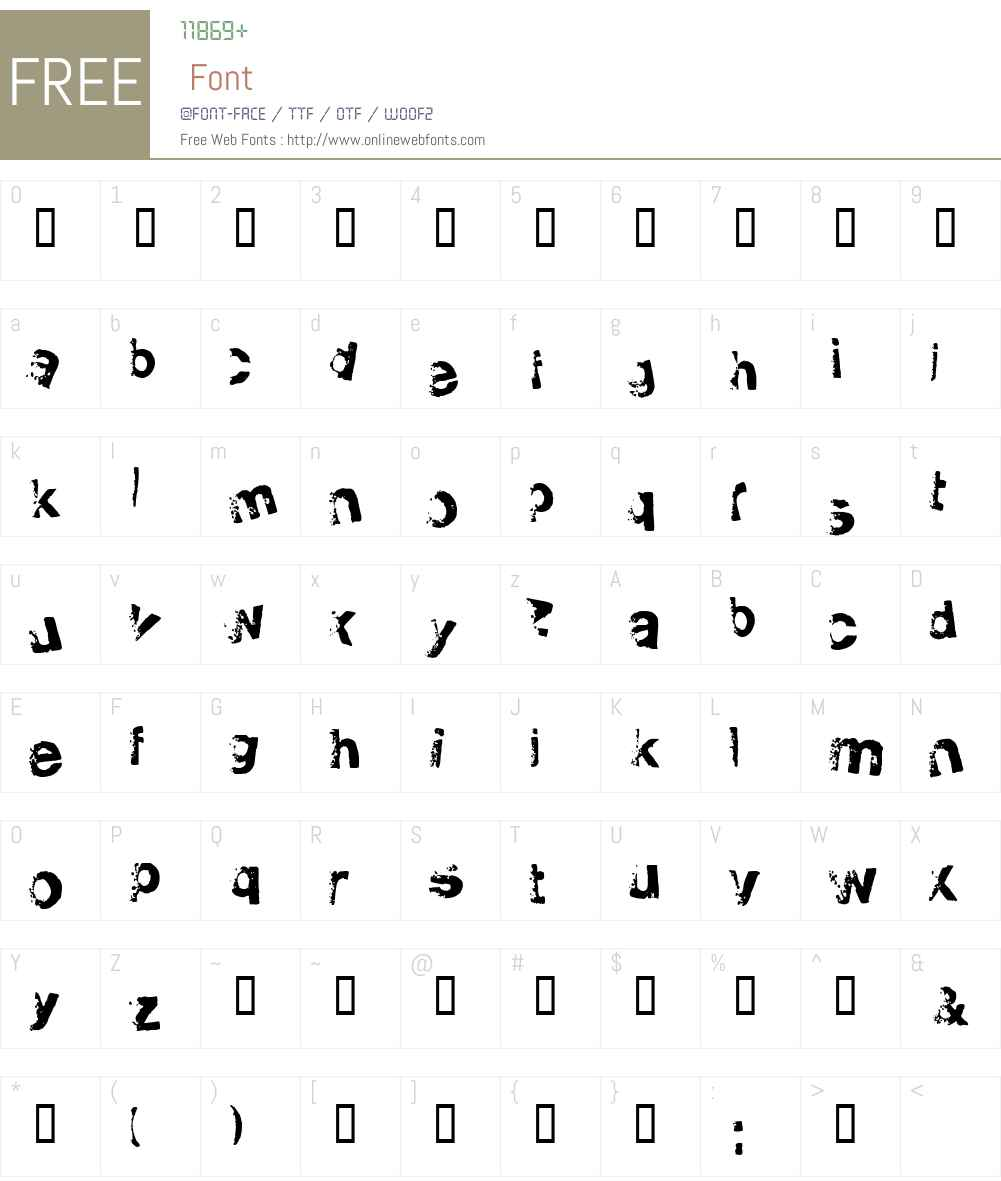 fz-wencang-079 Font Screenshots