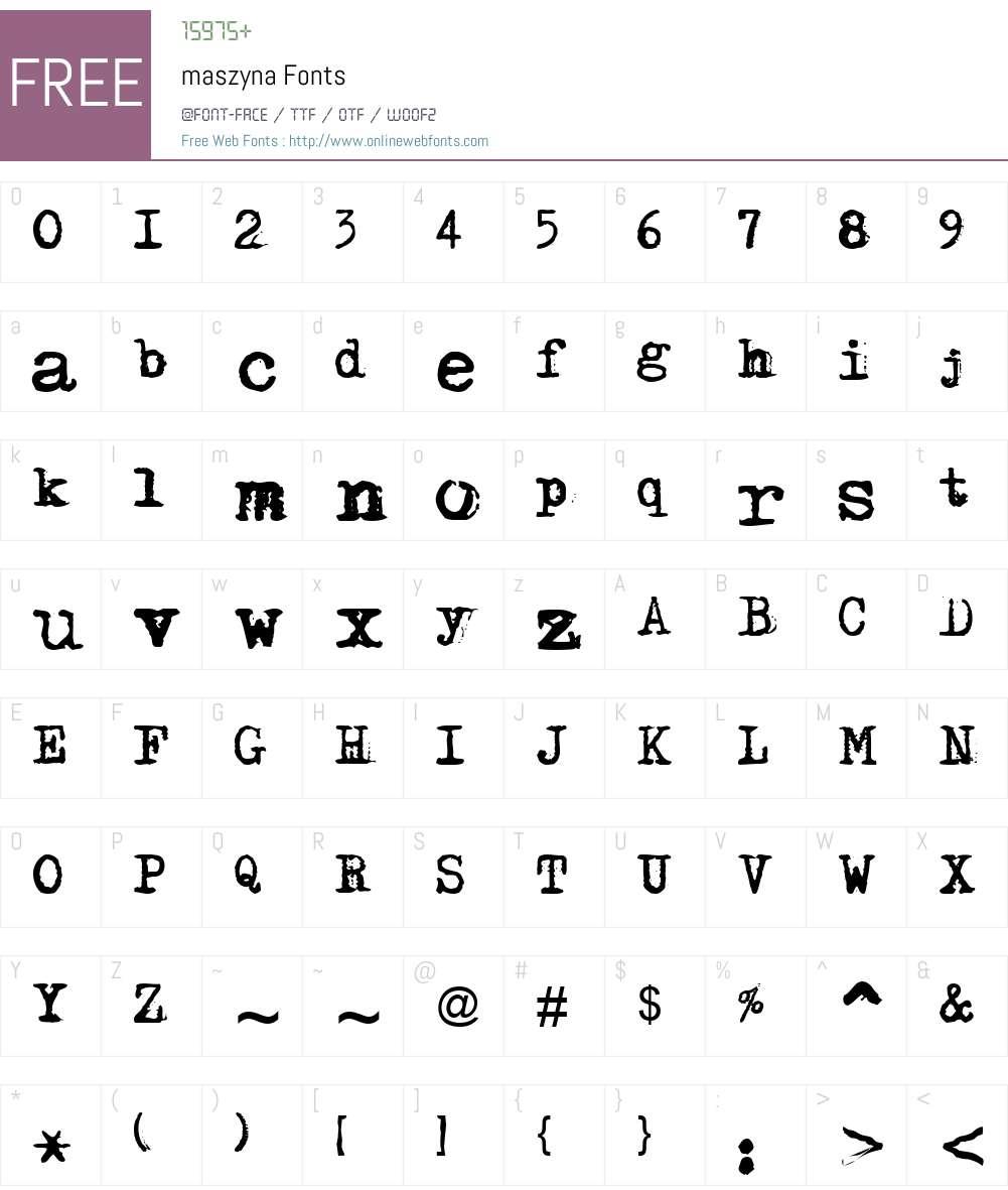 maszyna Font Screenshots