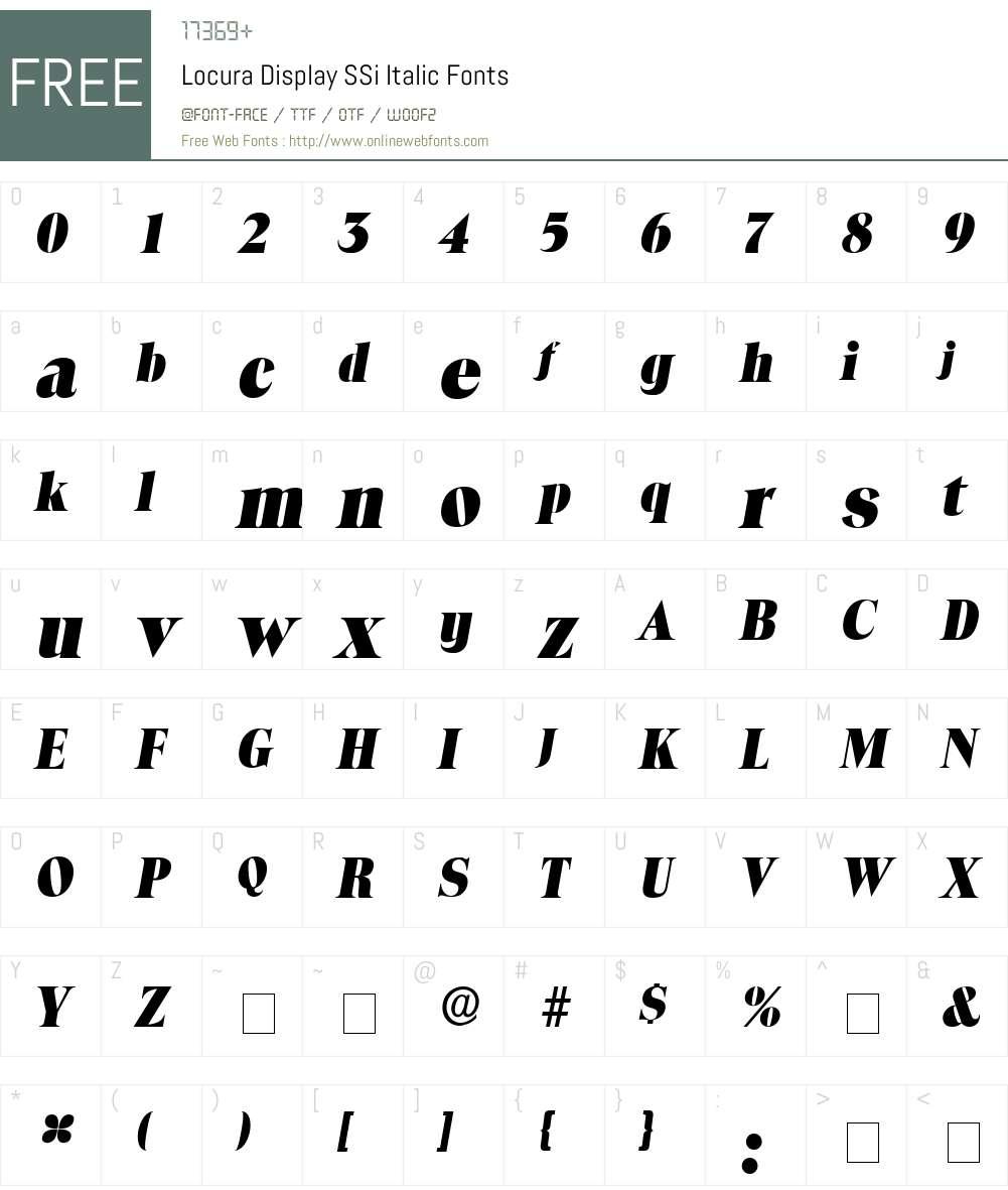 Locura Display SSi Font Screenshots