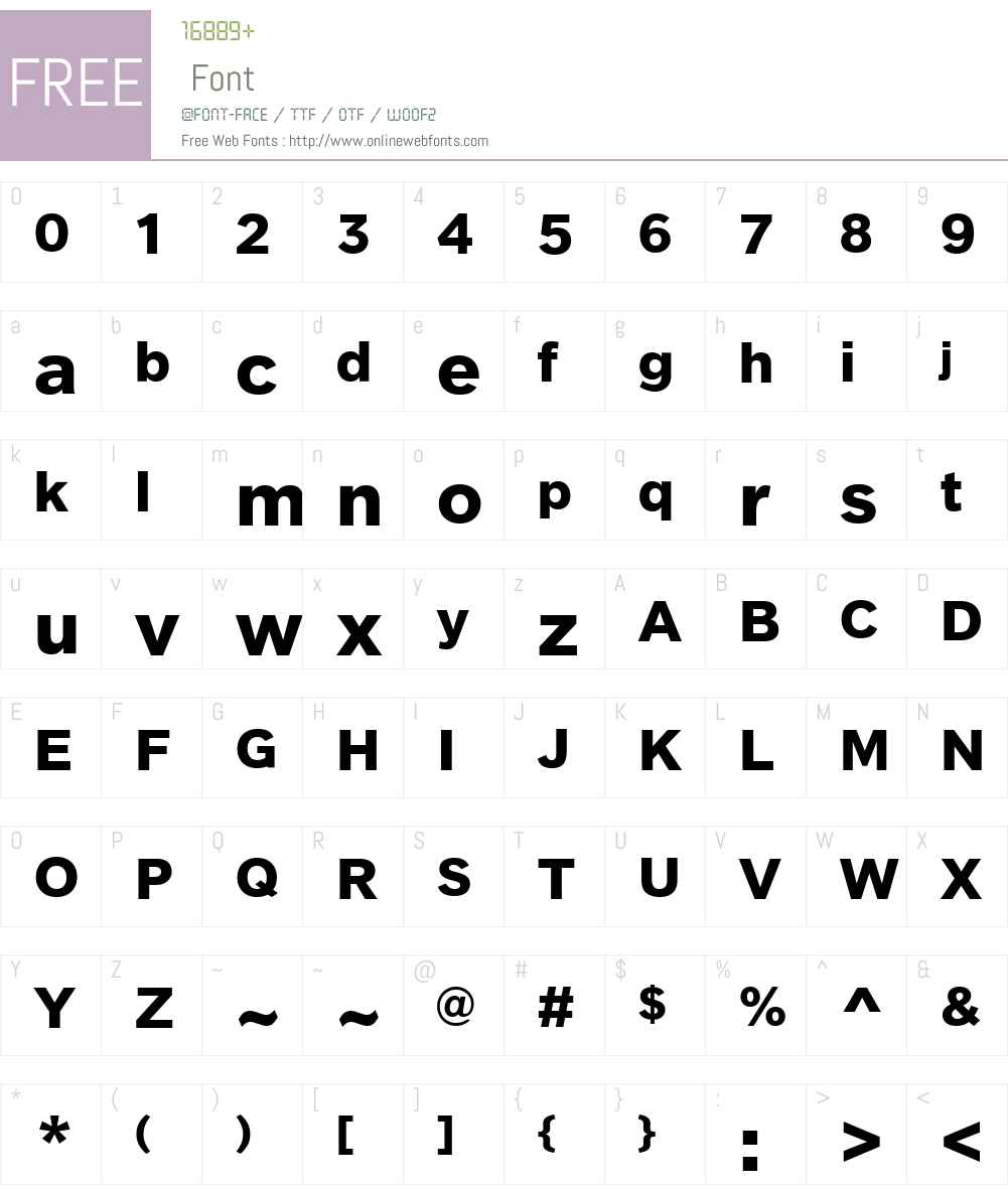 ClobberGroteskW00-Bold Font Screenshots