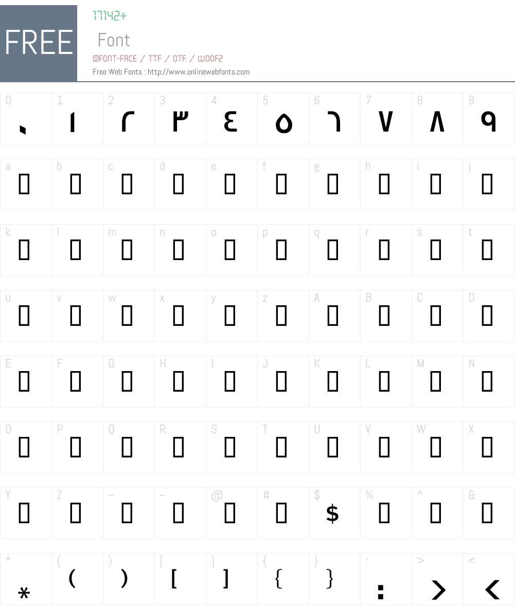GE SS Two Medium Font Screenshots