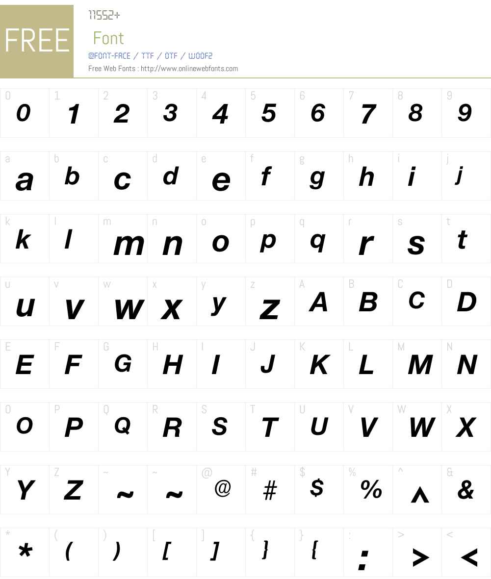 Iolnova Font Screenshots
