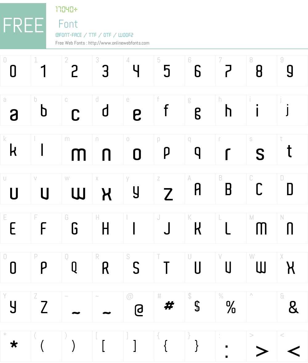 Aldo Font Screenshots