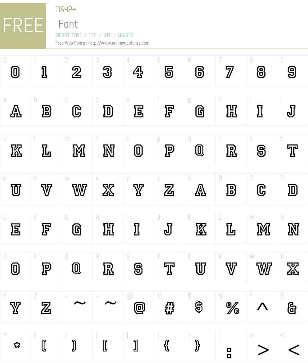 PrincetownEF Font Screenshots