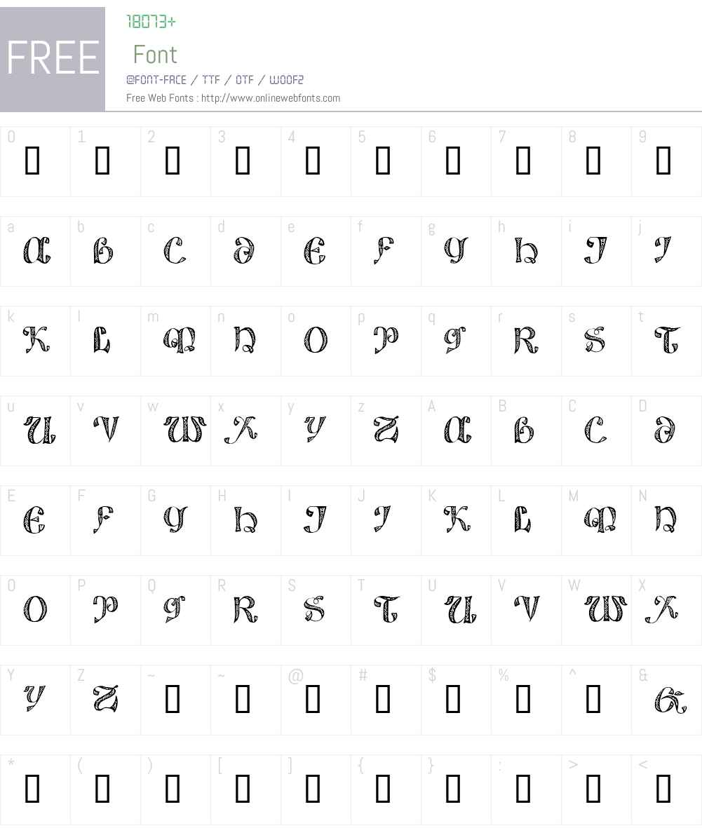 825 Lettrines Karolus Font Screenshots