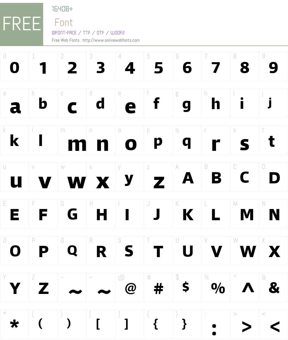 Qubo Font Screenshots