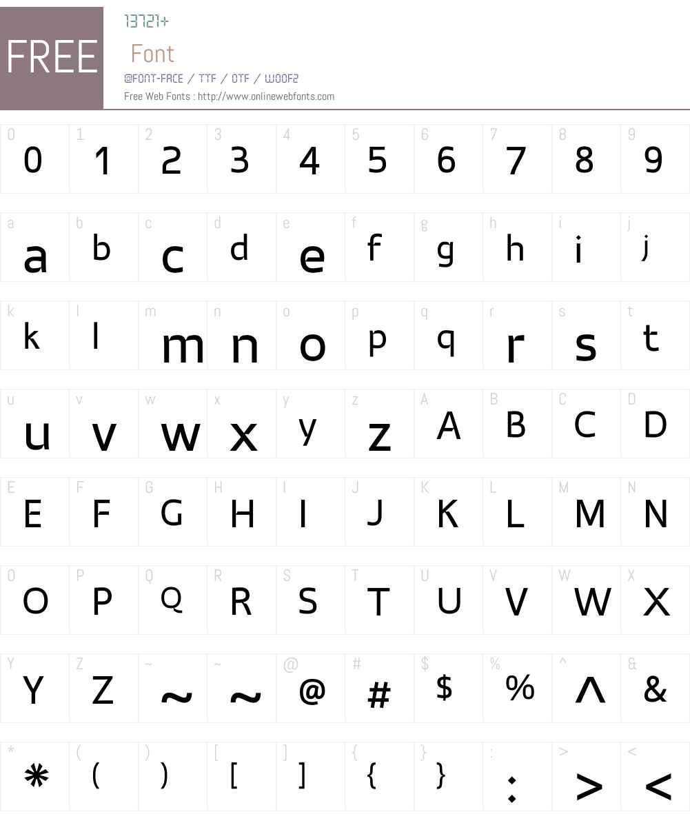 AtriaW01-Regular Font Screenshots