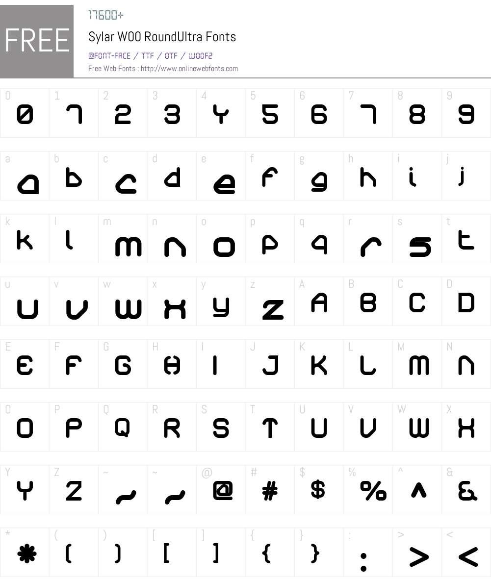 SylarW00-RoundUltra Font Screenshots