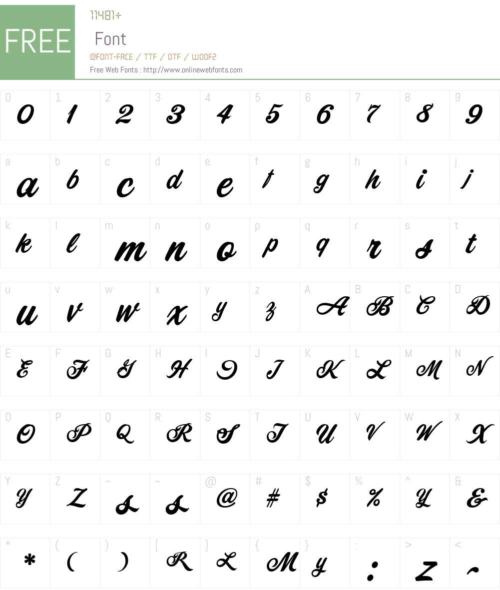 CornerStoreJF Font Screenshots