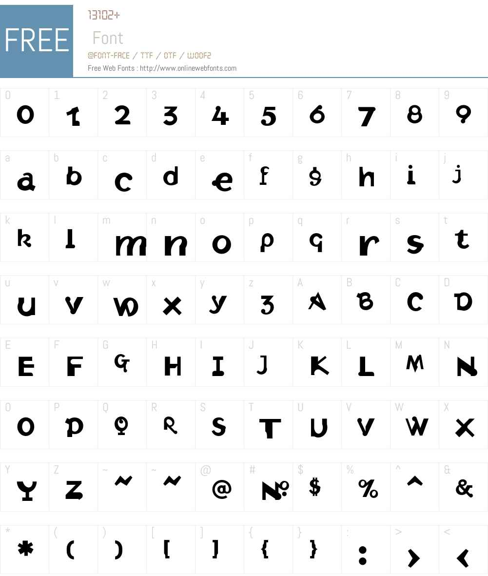 Intolerance Font Screenshots