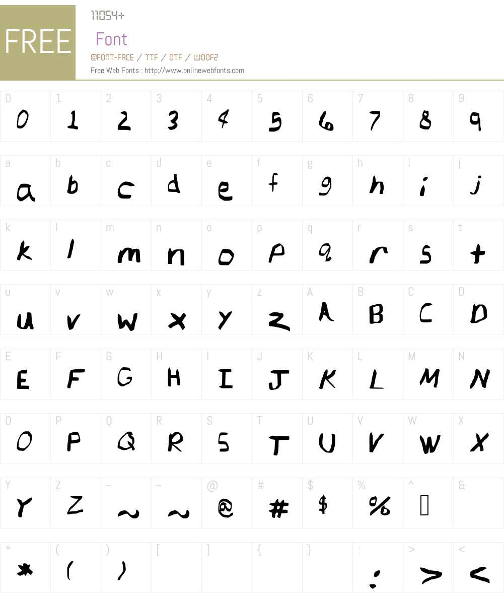 ChingChangRegular Font Screenshots
