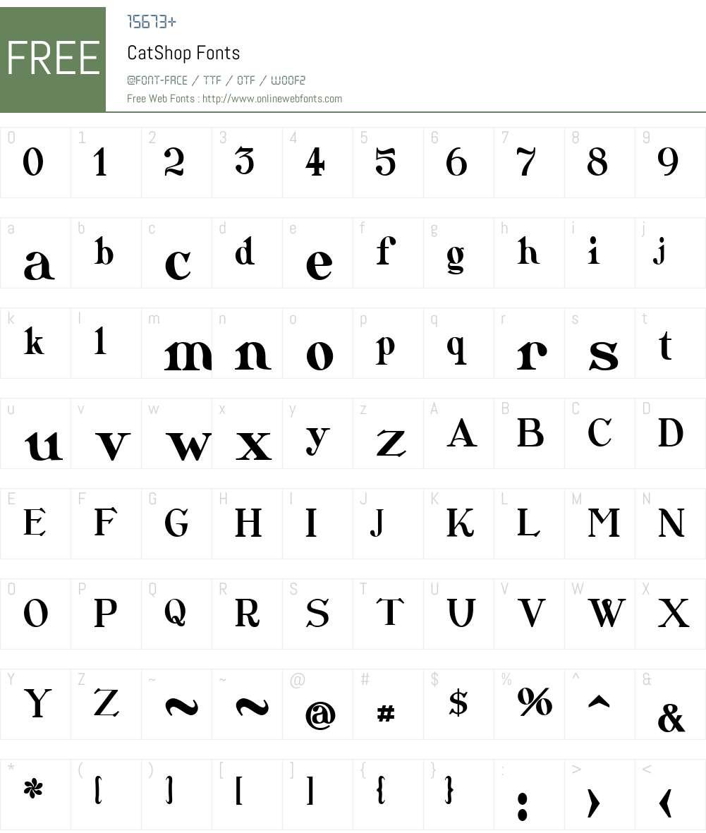 CatShop Font Screenshots