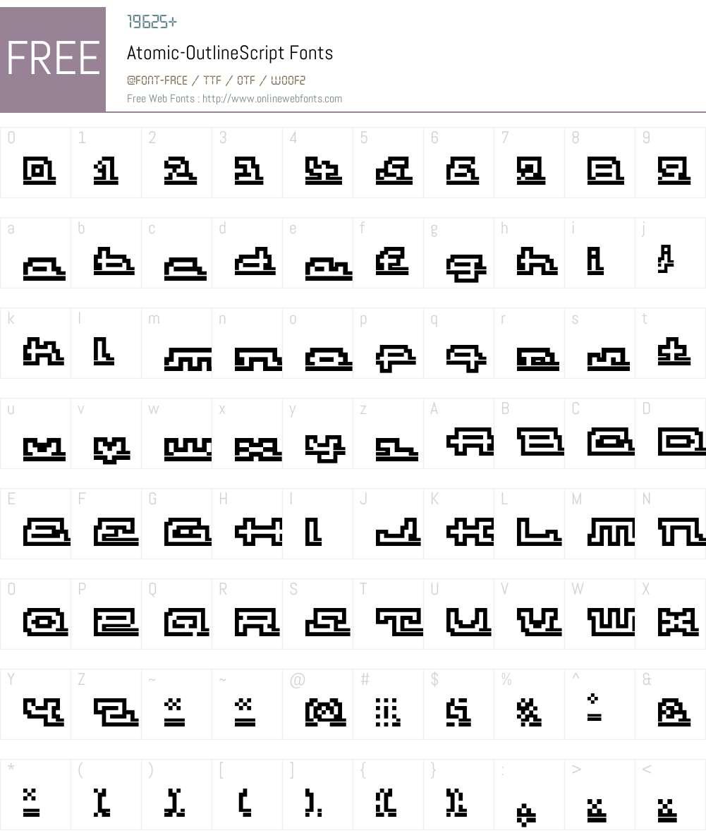Atomic Font Screenshots